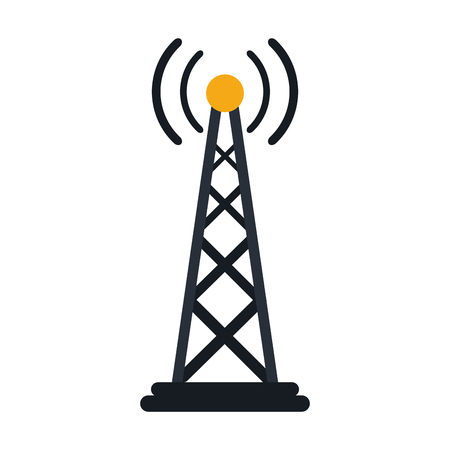 wireless connection: Electronic signal antenna icon vector illustration design graphic