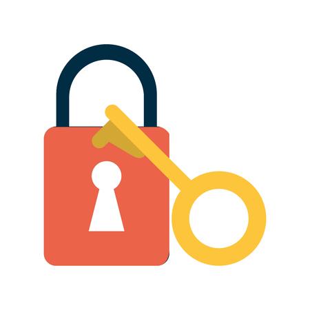 key lock close icon vector illustration design graphic Vektoros illusztráció