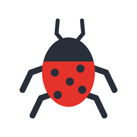 Wonderful ladybug insect illustration icon vector design graphic