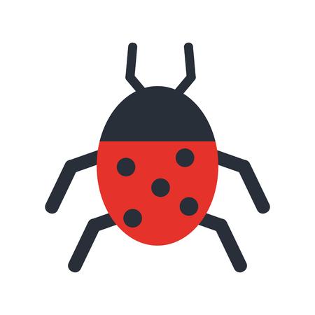 blade: Wonderful ladybug insect illustration icon vector design graphic