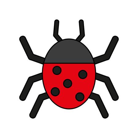 Wonderful ladybug insect illustration icon vector design graphic flat Illustration