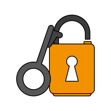key lock open icon vector illustration design graphic flat Vektoros illusztráció