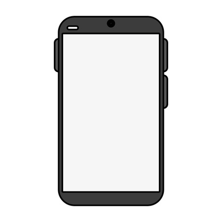telecommunications equipment: electronic cell phone on icon vector illustration design graphic flat