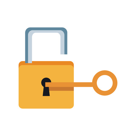 lock and key sign unlocking access password security vector illustration