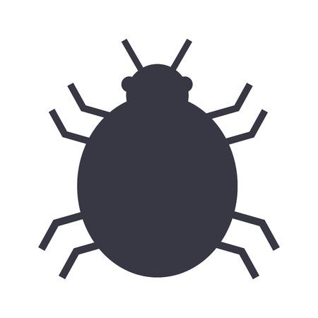 cyber security danger malware virus design vector illustration