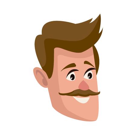 Personnage homme personnage plat conception illustration vectorielle Banque d'images - 80239282
