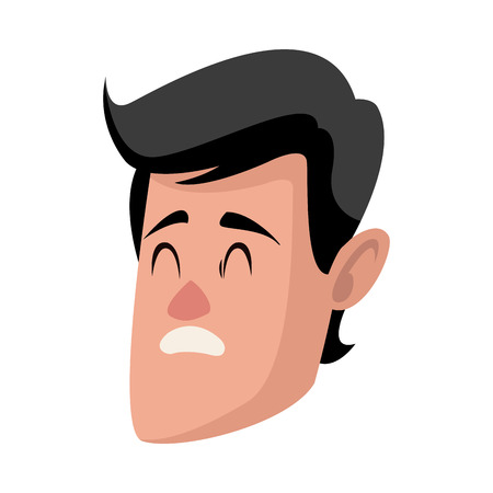 Personnage homme personnage plat conception illustration vectorielle Banque d'images - 80238288