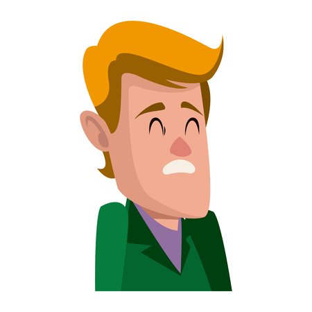 Personnage homme personnage plat conception illustration vectorielle Banque d'images - 80239453