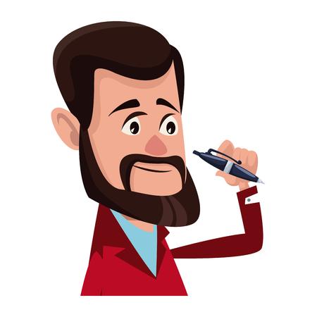 Personnage homme personnage plat conception illustration vectorielle Banque d'images - 80239327