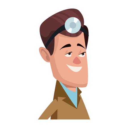 Personnage homme personnage plat conception illustration vectorielle Banque d'images - 80239328