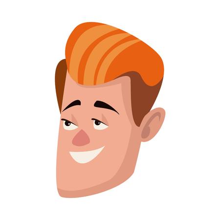 Man visage caractère personnes design plat illustration vectorielle Banque d'images - 80239330