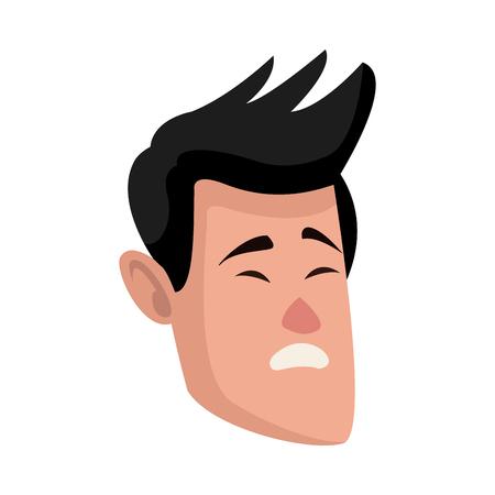 Personnage homme personnage plat conception illustration vectorielle Banque d'images - 80239334