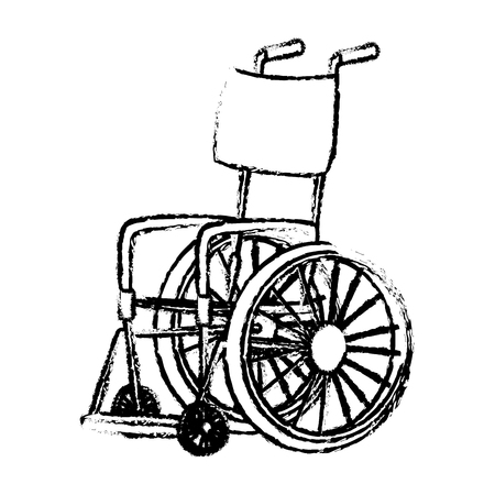 disabled wheelchair handicap medical equipment icon vector illustration