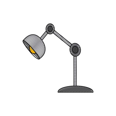 table lamp: desk lamp bulb light office object vector illustration Illustration