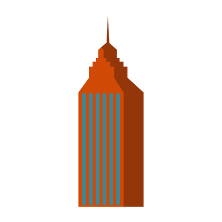 skyscraper building city business architecture apartment and office tower vector illustration