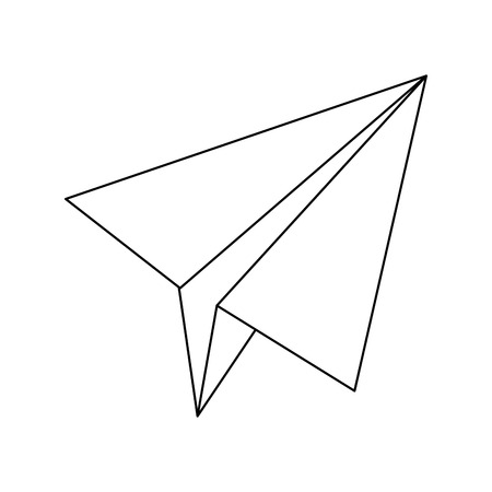 EASE: paper airplane business success motivation image vector illustration