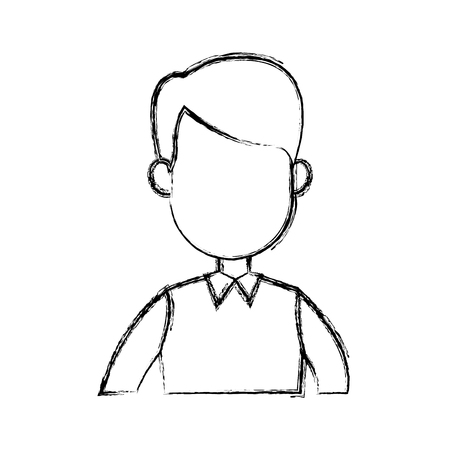 young man avatar character portrait people image vector illustration