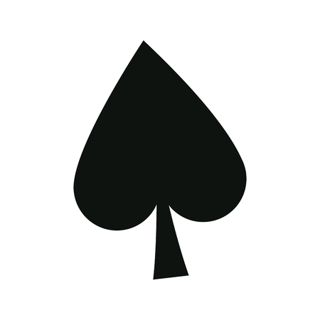 poker card sign spade ace play icon vector illustration
