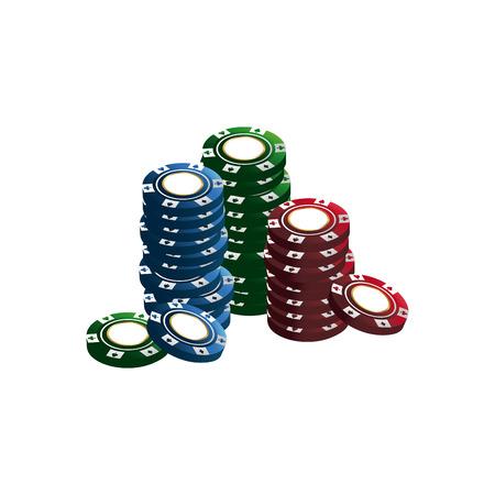 casino chips stacks pile poker image vector illustration Illustration