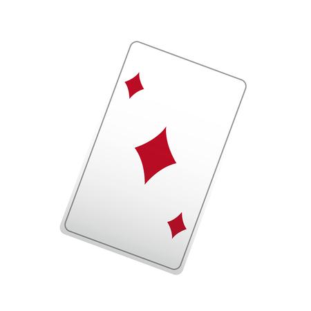 Poker ace card, jouer au casino illustration vectorielle Banque d'images - 80283561