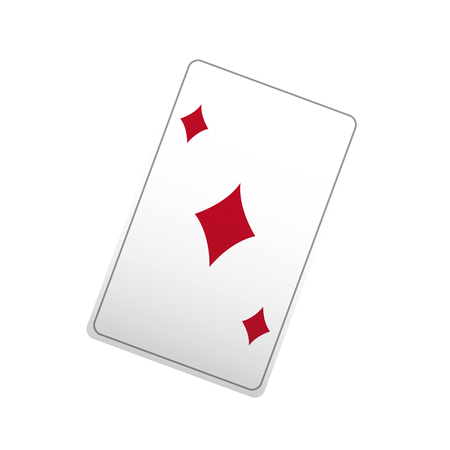 poker ace card, playing casino vector illustration Illustration