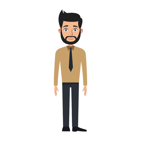 Business man cartoon character young male professional vector illustration