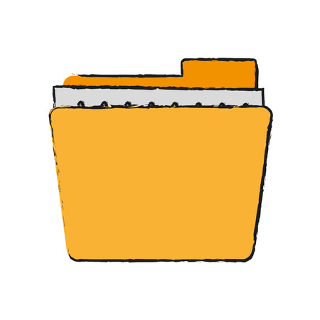 Folder documents out icon vector illustration design graphic draw Illustration