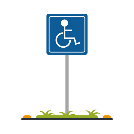 disabled person parking sign icon image vector illustration design Illustration