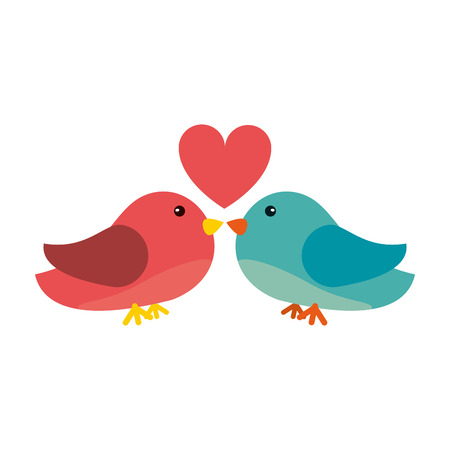 inseparable: Lovebirds romantic valentines day icon image vector illustration design. Illustration