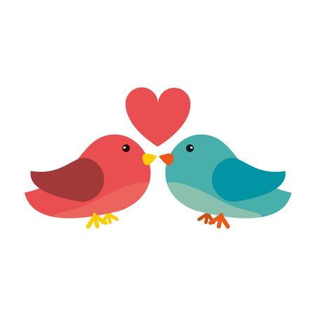 Lovebirds romantic valentines day icon image vector illustration design. Illustration