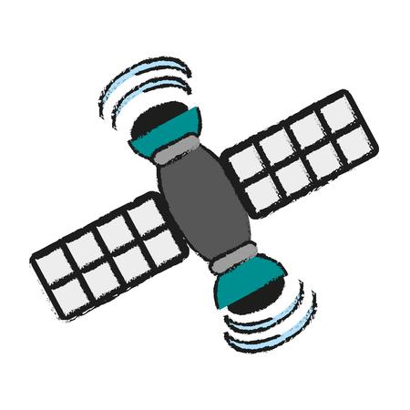 satelite: Satelite information world icon vector illustration design graphic draw.