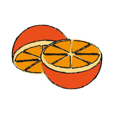 Orange fruit candy illustration icon vector design graphic draw