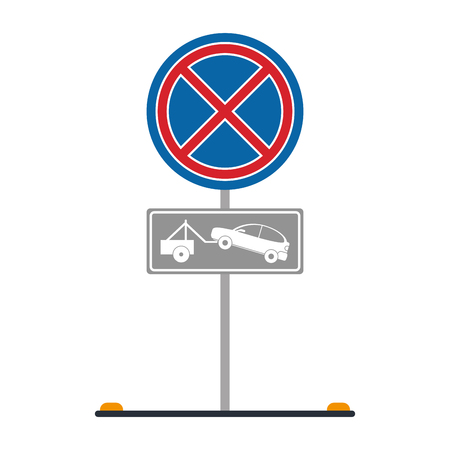 illegal zone: No park zone parking sign icon image vector illustration design. Illustration