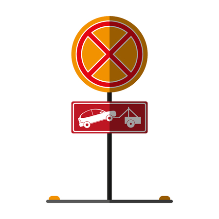 urban area: no park zone parking sign icon image vector illustration design