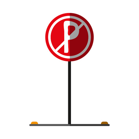 no park zone parking sign icon image vector illustration design