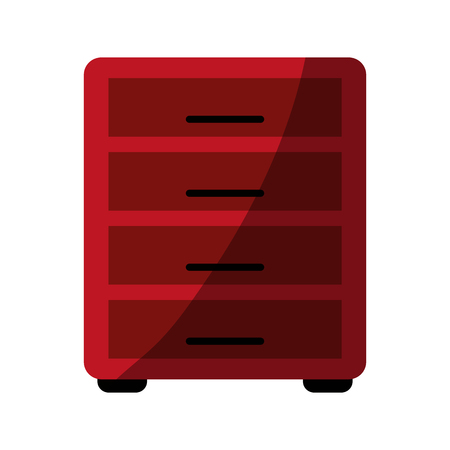 coworker: Archive drawers office supplies related icon image vector illustration design