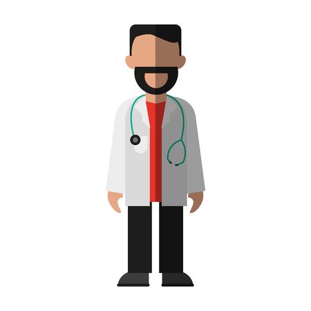 lifeline: male medical doctor icon image vector illustration design Illustration