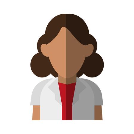 lifeline: female medical doctor icon image vector illustration design