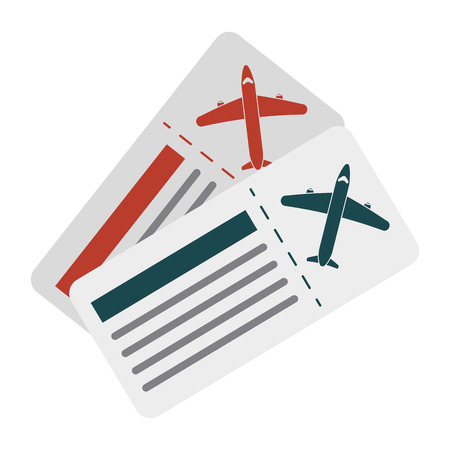 boarding card: boarding pass two icon image vector illustration design