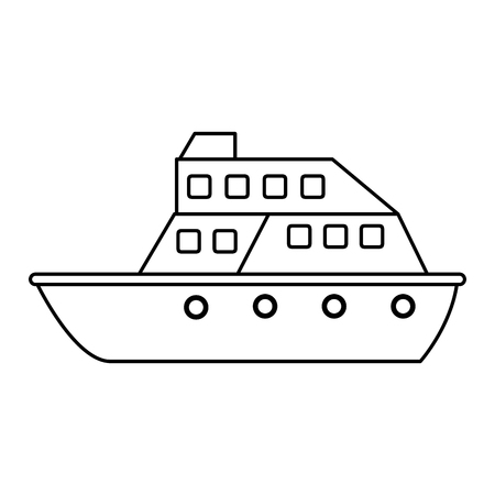 wandering: Cruise ship  icon image vector illustration design