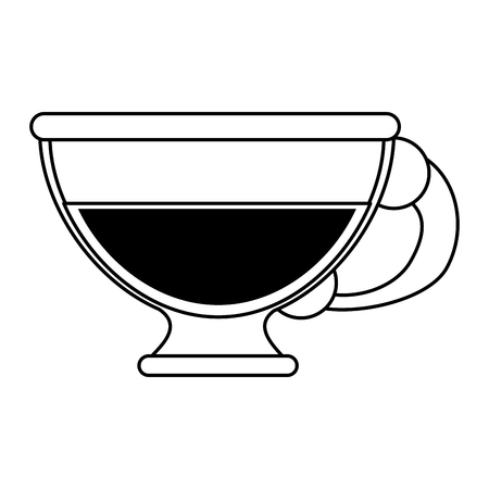 Coffee beverage in glass cup  icon image vector illustration design