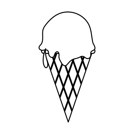 creme: ice cream cone icon image vector illustration design