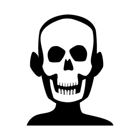 human skull skeleton x-ray medicine test vector illustration