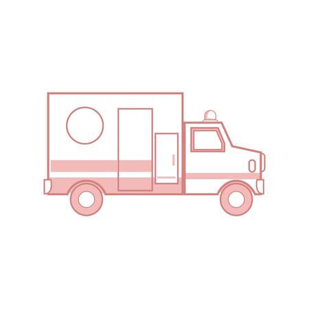 urgency: ambulance health care transport emergency urgent hospital vector illustration Illustration