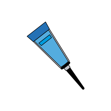 cleanliness: tube for cream ointment medicine creme sticker vector illustration Illustration