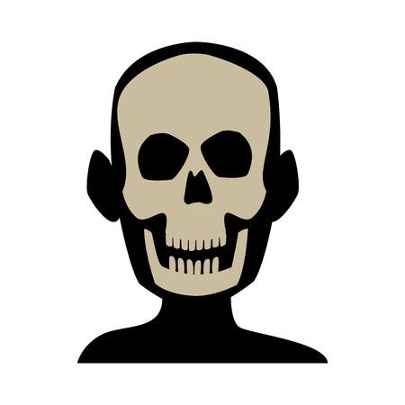 인간의 의료 건강 벡터 일러스트 레이 션의 머리 뼈 구조의 xray