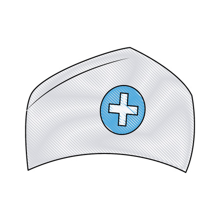 medical headwear: hat nurse accessory uniform medical vector illustration