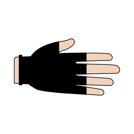 surgical glove: drawing hand human protection glove medical vector illustration Illustration