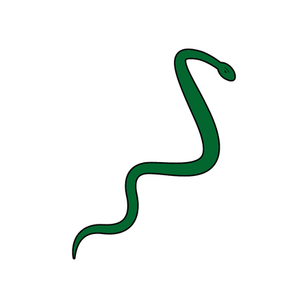 asclepius aesculapius reptile snake care symbol vector illustration