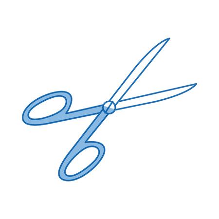 medical equipment scissors instrument icon vector illustration